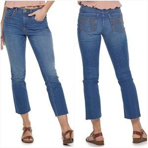 American Rag High Waist Kick Flare Jeans